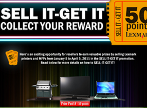 Lexmark Sell It - Get It Landing Page