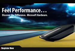 Microsoft Feel the performance E-blast/Landing Page