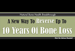 Natural Bone Health Rescue Sales Page Header Concept 2