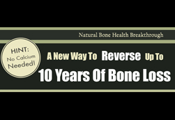 Natural Bone Health Rescue Sales Page Header Concept 1